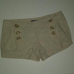 Express Linen Blend Tan Shorts Size 4